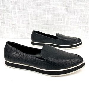 Kenneth Cole Reaction platform reptile loafers 7.5